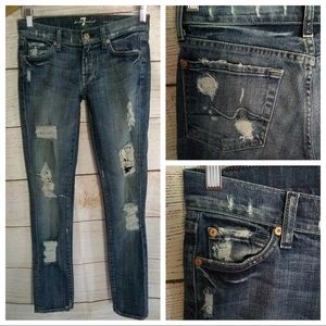 7 For All Mankind® Women Roxanne Skinny sz 24